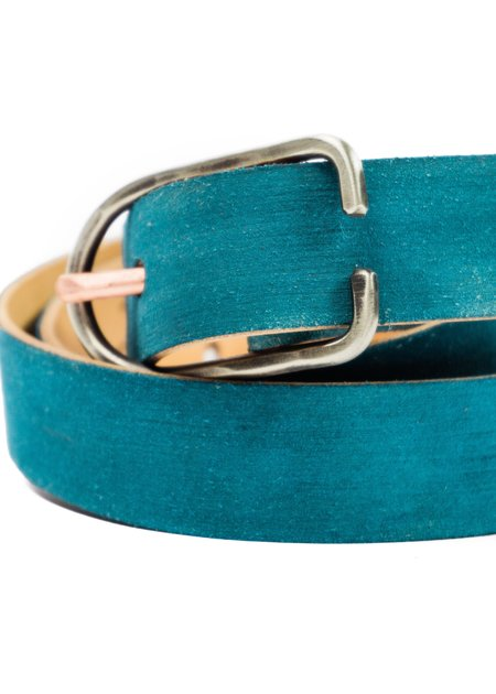 Cause And Effect Suede Rough Out Belt - Blue