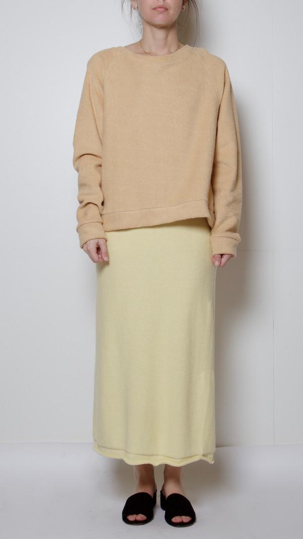Baserange Orleans Skirt in Egg Yellow