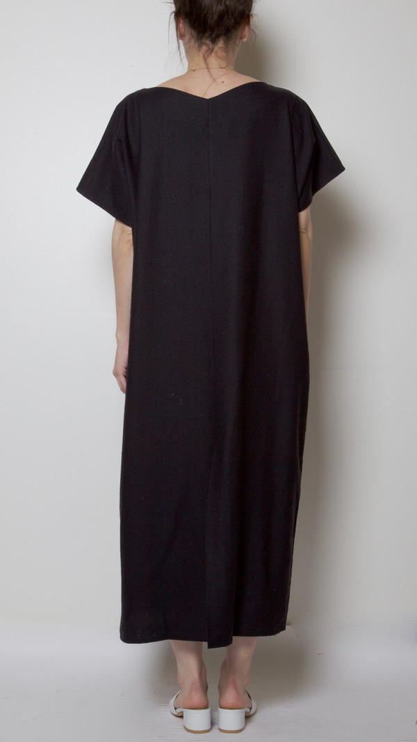 Baserange Sevinc Tee Dress in Black
