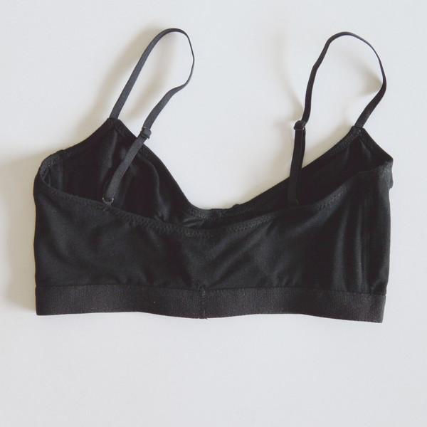 Baserange Soft Bra with Underwire in Black