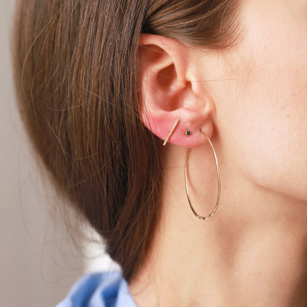 Blanca Monrós Gómez Round Hoop Earrings in 14K Rose Gold