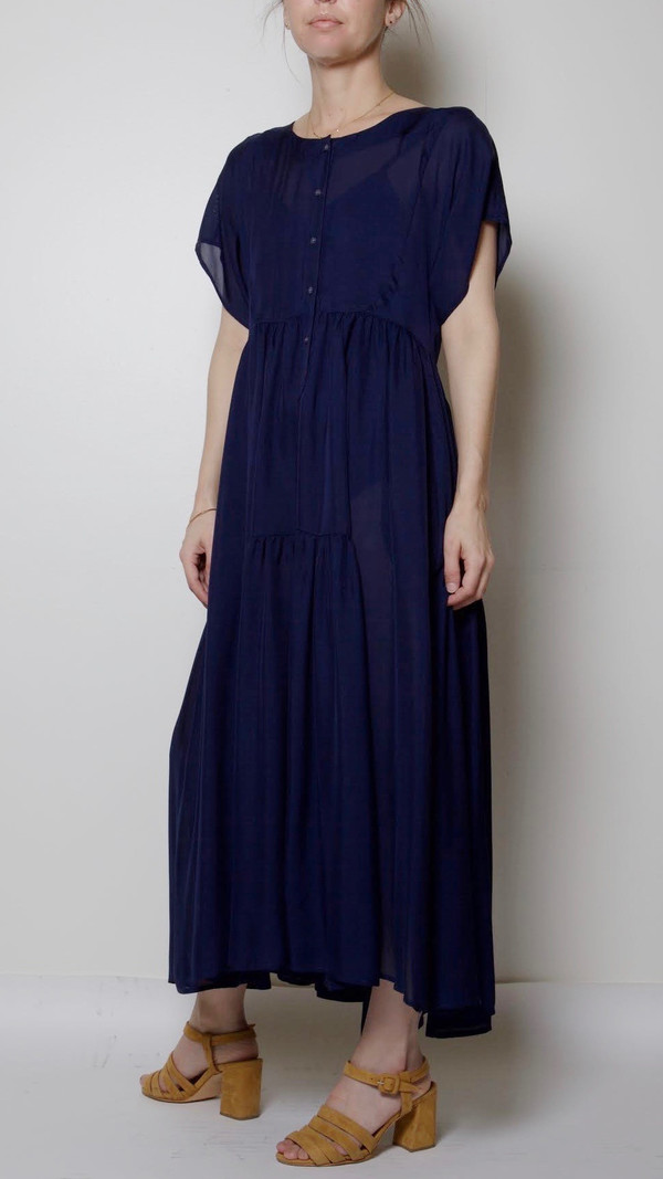 Maryam Nassir Zadeh Florenza Dress in Navy