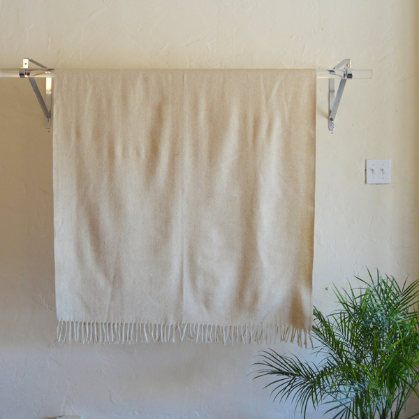 Mexchic Top Drawer Wool Blanket in Crema