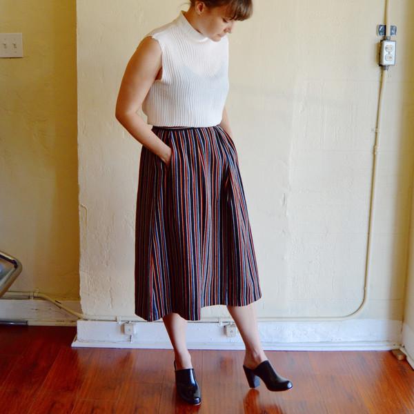 Nikki Chasin Chase Midi Skirt in Stripe