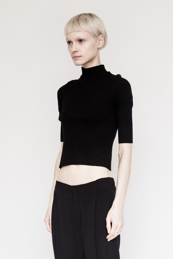 Assembly New York Cotton Ribbed T-shirt - Black