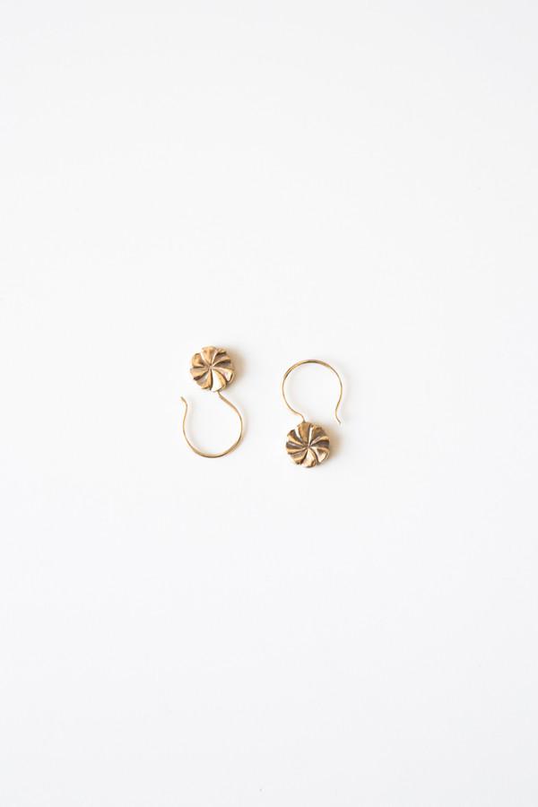 Jorge Morales Gold Plated Brass Pinwheel Earring