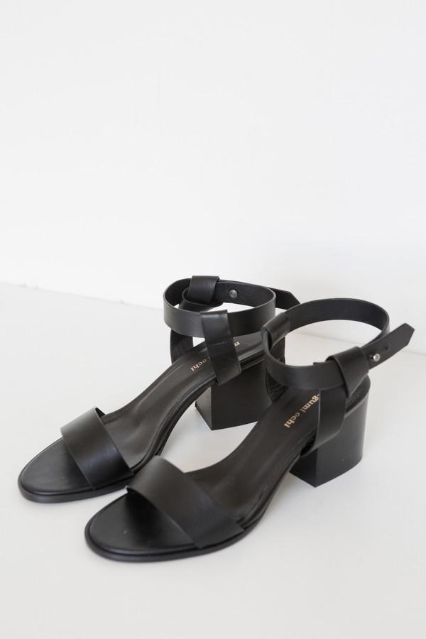 Megumi Ochi Leather Cubic Heel