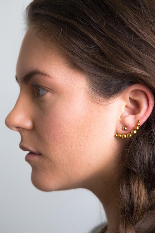 Katrine Kristensen - Gold Bullet Earring Single