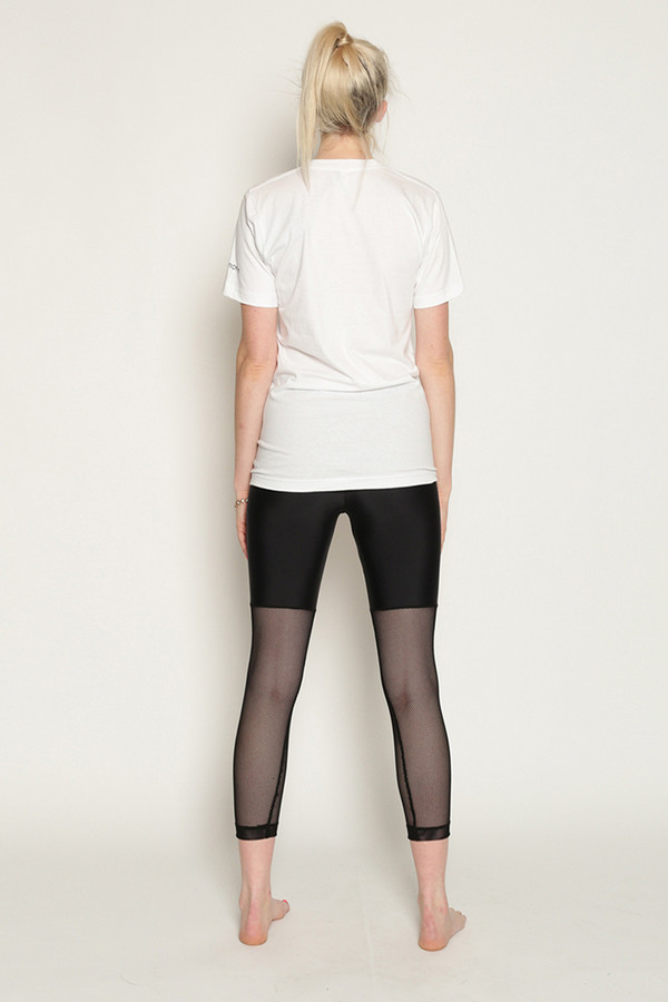Chromat Underwire Bralette T-Shirt in White/Black