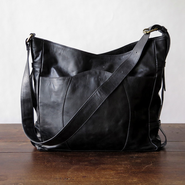 Erica Tanov leather buckle bag
