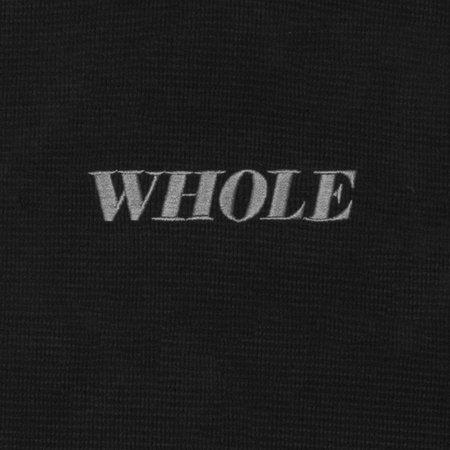 UNISEX WHOLE THERMAL LOGO TURTLENECK - BLACK