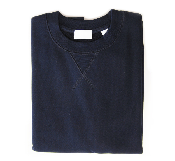 Handvaerk Navy Short Sleeve Sweatshirt