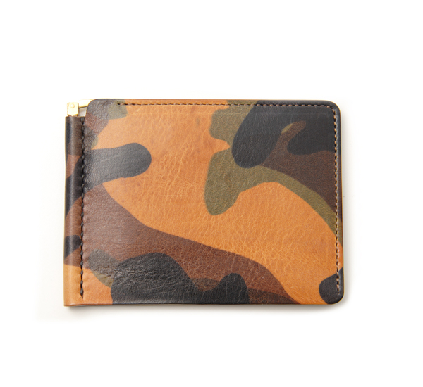 Anchor Bridge AB Short Money Clip Brown Camo Wallet