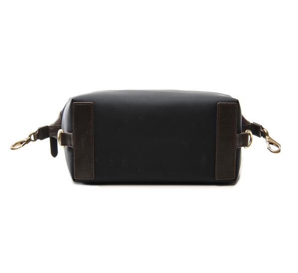 Navy and Dark Brown MS Wash Bag by Mismo