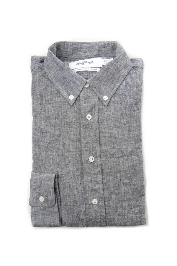 Men's Schnayderman's Black Leisure One Linen Cotton Shirt by Schnayderman's