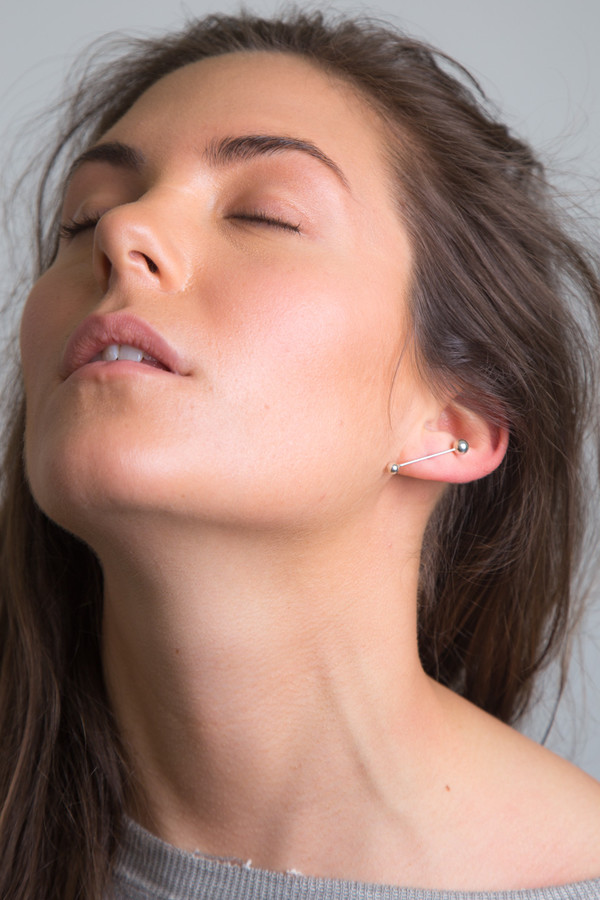 Silver Sunray Earring Single