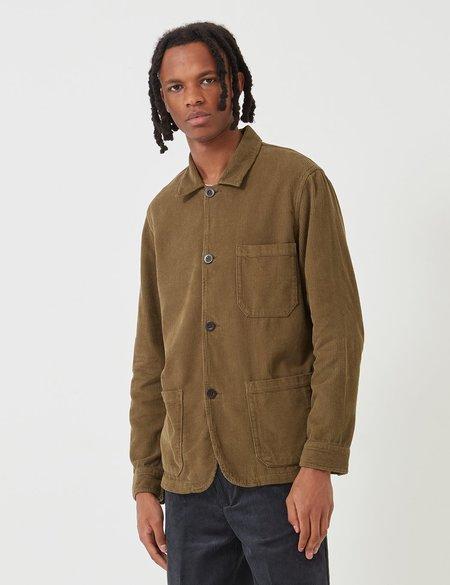 Portuguese Flannel Labura Cord Workwear Jacket - Olive Green