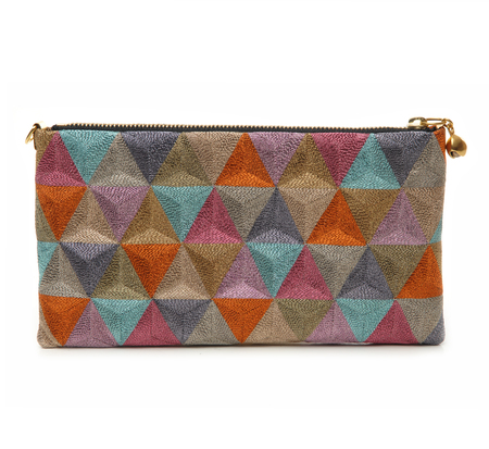 Anne Grand-Clément Rainbow Metallic Rosebud Pouch