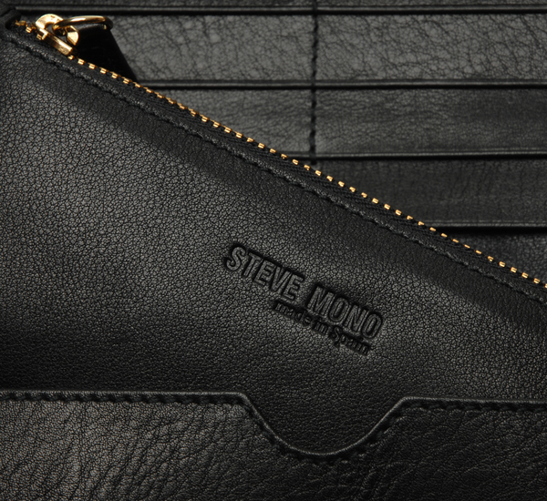 Steve Mono Black Wallet