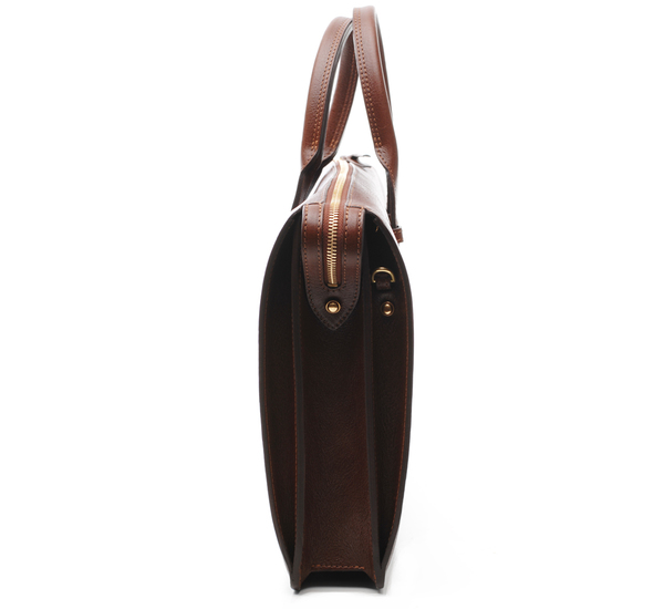 Chestnut Triumph Briefcase by Lotuff Leather