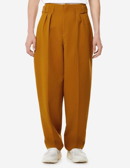 Unisex Kitsune Pleated Pants - Camel