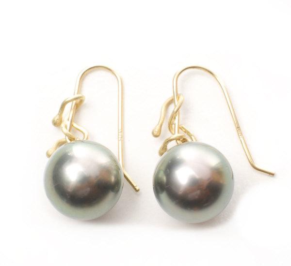 Rosanne Pugliese 18K Grey Tahitian Pearl Drops