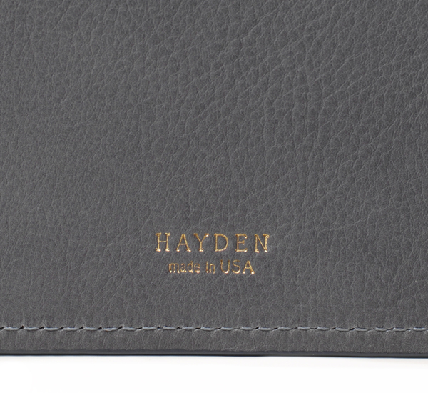 Unisex Hayden Leather Grey and Yellow Leather File Folder
