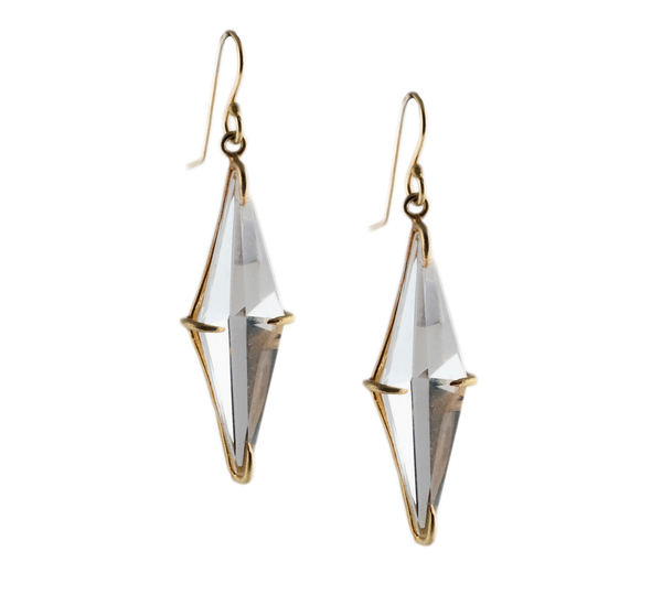 Small Rosanne Pugliese18K Rock Crystal Marquis Drops
