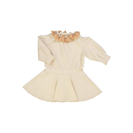 Kids Petit Mioche Organic Merino Wool Dress w/ Ruffle Collar