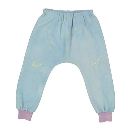 Kids Petit Mioche Organic Embroidered Merino Wool Pants