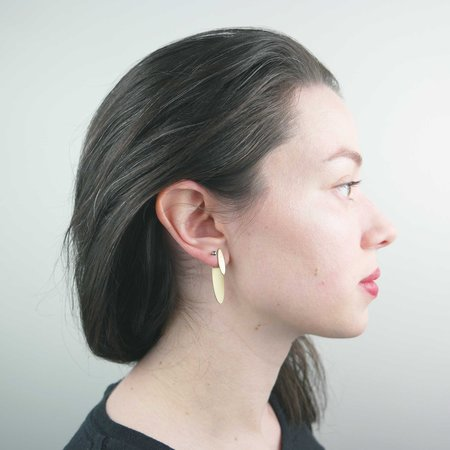 Natalie Joy Oval Ear Jacket - Brass
