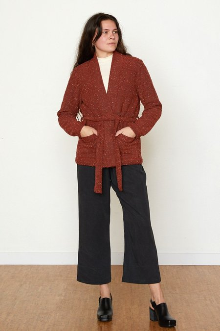 North Of West Pebble Knit Marisa Jacket - Ruby