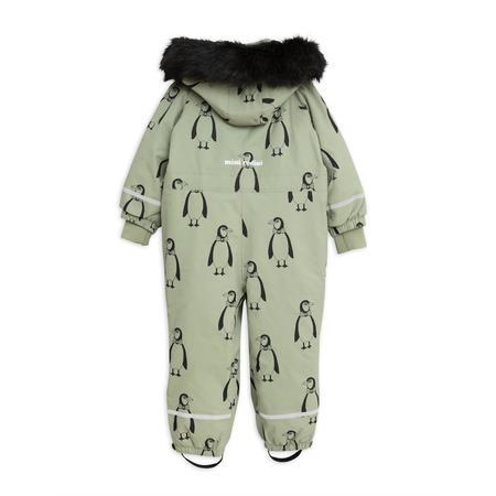 kids mini rodini kebnekaise penguin overall - green