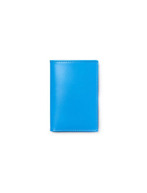 Comme des Garçons Super Fluo Card Wallet - Blue
