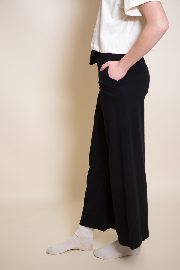 Pansy Drawstring Pants / Black