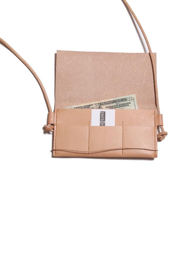 Minnie + George Cross Body Wallet in Veg Tan