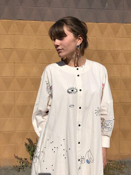 Mr. Larkin Nadine Embroidered Dress - Beige