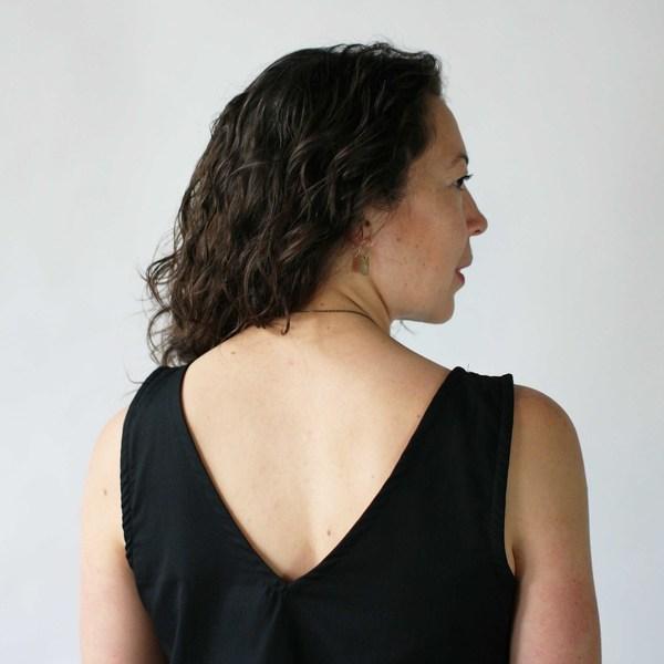 Gravel & Gold Correa Dress in Black
