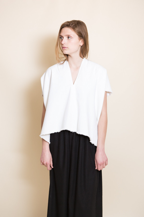 Miranda Bennett Everyday Cropped Top / White Denim