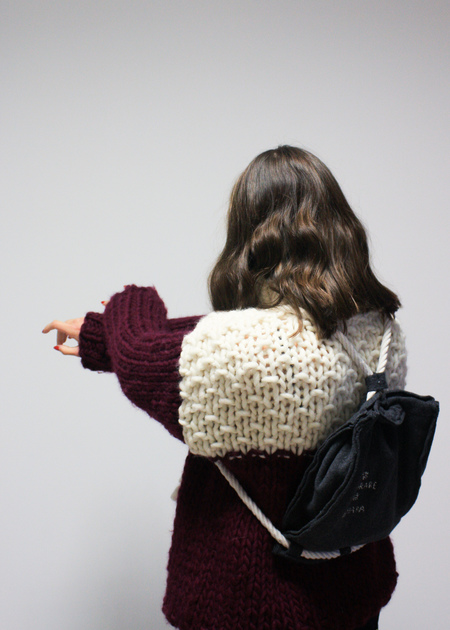 SIZ Rochi Sweater - Bordeaux/Ecru