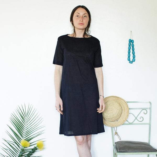 Me & Arrow Tall Dress - Lightweight Cotton Black