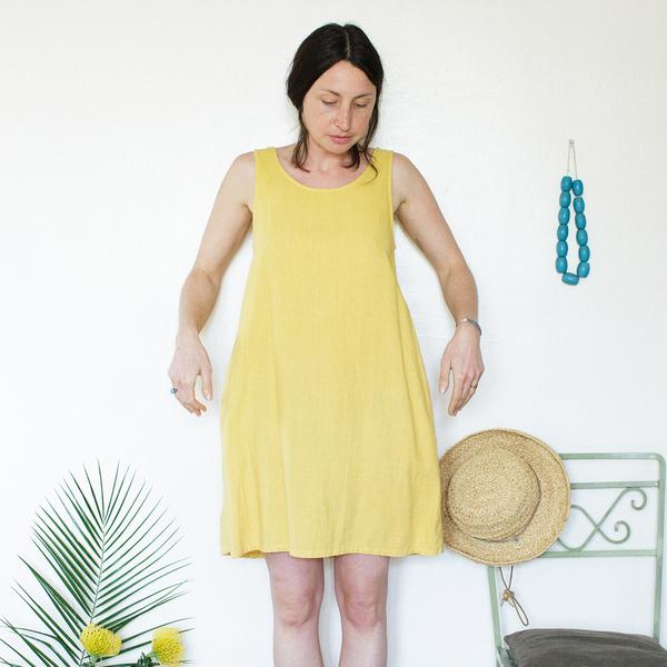 Me & Arrow  Basic Tank Dress Sunflower