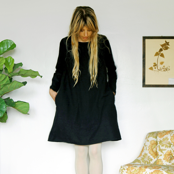 Unknown LS Basic Dress<br>Black