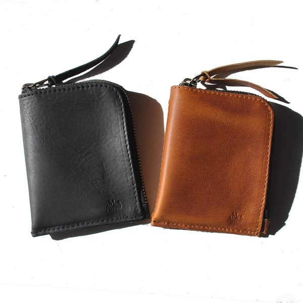 Unknown Zipper Wallet<br>Oiled Leather Brown<br>