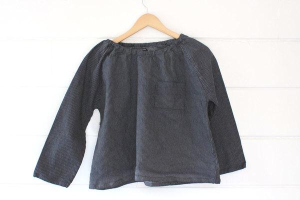 pietsie Marais Shirt in Gray Ticking