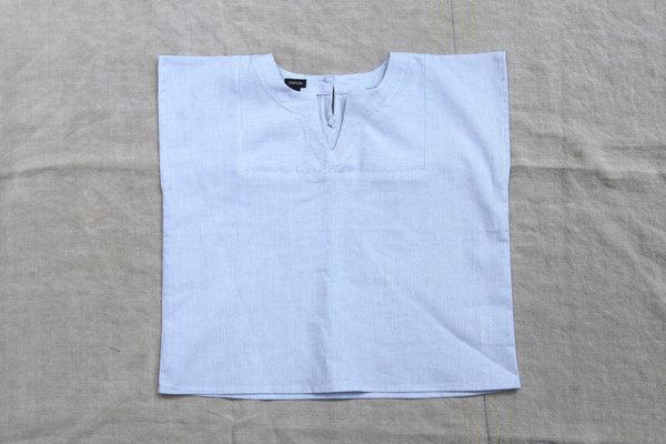 pietsie Sayulita Shirt in Pale Blue Stripe