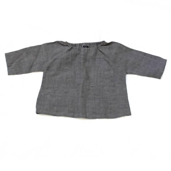 Marais Shirt in Gray Linen