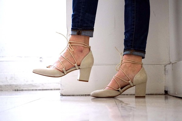Intentionally Blank HATTER in nude suede