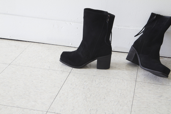 Intentionally Blank PONCHO boot in BLACK suede