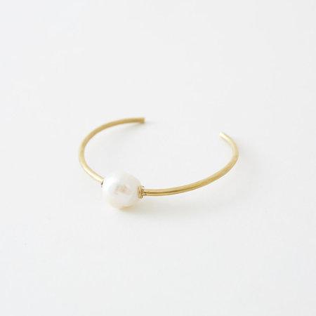 Crescioni Perla Bracelet - Brass/Pearl